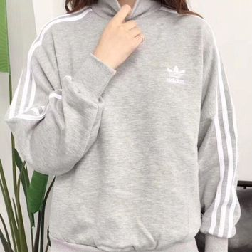 Adidas trefoil 2017 female fashion leisure sports sweater hoody