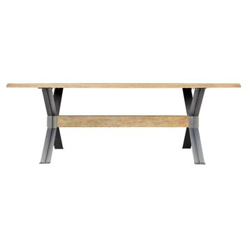 "Marcello Modern Industrial Farmhouse 87"" Dining Table"