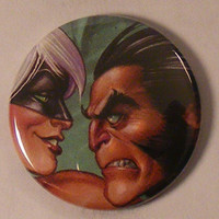 "Comic Book 1.5"" Button// Wolverine and Black Cat"