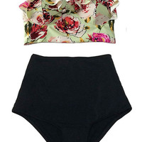 2016 High Waisted Bikinis Swimwear Women Swimsuit Plus Size