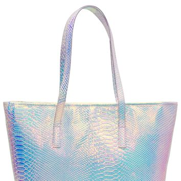 Holographic Insulated Lunch Tote Bag