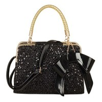 Fashion bow sequins hundred pro-mobile diagonal package