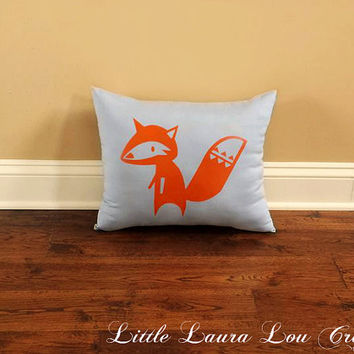 Fox Pillow, Woodland Animals, Home Decor, Nursery Decor, Kid's Room, Playroom Decor, Gender Neutral Gift *FREE SHIPPING*