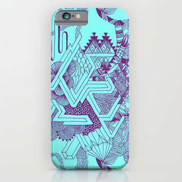 Turquoise Geo iPhone & iPod Case by Goodnightgracie