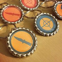 TF2 Team Fortress 2 Classes Keyring Keychain - SINGLE