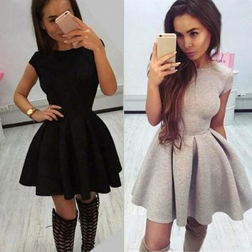 Summer Women Backless Bandage Party Cocktail Skater Evening Swing Mini Dress New