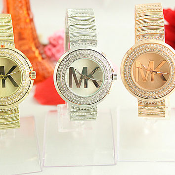 The big letter MK style diamond quartz watch [9521566087]
