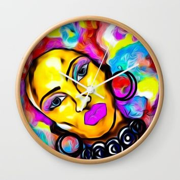 AFROTASTIC Wall Clock by violajohnsonriley