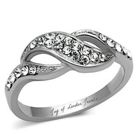 2.9TCW Russian Lab Diamond Wedding Band Promise Ring