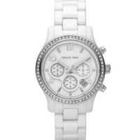 Michael Kors White Ceramic Glitz Watch