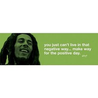 Bob Marley (Positive Day) Music Poster Print - 12x36 Poster Print, 36x12