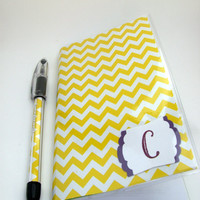 2014 - 2015 Weekly Pocket Planner School Year - Chevron with initial - Pick Your Colors