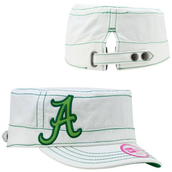 New Era Alabama Crimson Tide St. Paddy's Day Ladies Chic Cadet Adjustable Hat -  White