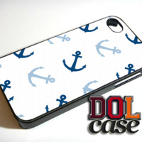 Anchor Patterns Nautical Anchor navy blue iPhone Case Cover|iPhone 4s|iPhone 5s|iPhone 5c|iPhone 6|iPhone 6 Plus|Free Shipping| Consta 563
