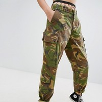 Milk It Vintage Camo Pants at asos.com