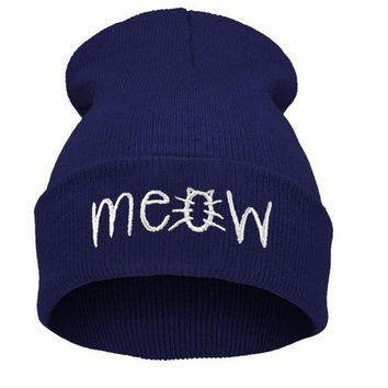MEOW Knitted Beanie