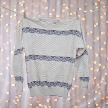 CREAM // BLACK colored Design Hipster Vintage by SweatersAnonymous