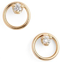 Zoë Chicco Diamond Circle Stud Earrings | Nordstrom