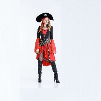 Hot Sexy Women Cosplay Party Costumes Adult Cosplay Halloween Women Sexy Pirate Costumes