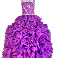 BFB New Design Purple Wedding Flower Girls Dress Formal Party Dress
