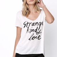 Obey Strange Kind Of Love T-Shirt - Womens Tee - Natural - Small