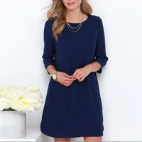 Stylish Women Lady Casual Chiffon Cocktail Party Mini Dress