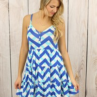 Happy Spring Dress in Royal Blue