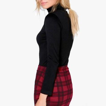 Gianna Berry Check Strech Mini Skirt | Boohoo