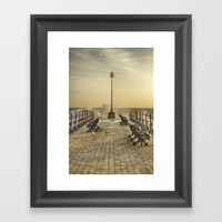February Sunrise over Swanage Jetty Framed Art Print by Linsey Williams Art