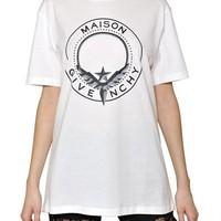 GIVENCHY - MAISON GIVENCHY COTTON JERSEY T-SHIRT - LUISAVIAROMA - LUXURY SHOPPING WORLDWIDE SHIPPING - FLORENCE