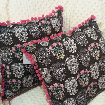 Decrative Pillow Candy Sugar Skull, Dia de los Muertos decrative pillow