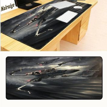 Star Wars Force Episode 1 2 3 4 5 Mairuige Large PC Laptop Notebook Mousemat Gaming Speed Up Lock Edge Mousepad  Print Rubber Mouse Pad Mice Mat AT_72_6