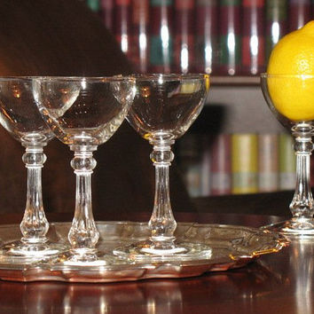 Libbey Rock Sharpe Columbian Coctail Glasses