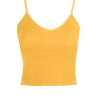 Ribbed Cropped Cami