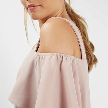 Cold Shoulder Bardot Dress - Topshop