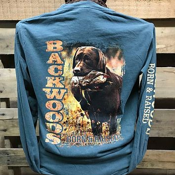Backwoods Traditions Duck Hunt Dog Bright Comfort Colors Long Sleeves Unisex T Shirt