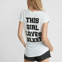 Express One Eleven This Girl Loves Sleep Hi Lo Tee