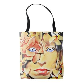 Mother Nature Flower Goddess Abstract Original art Tote Bag