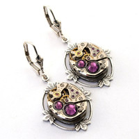 Steampunk Earrings  GORGEOUS Vintage Bulova by LondonParticulars