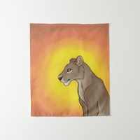 Queen Lioness Tapestry