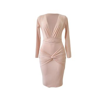Womens Stylish Simple Party Evening Dress
