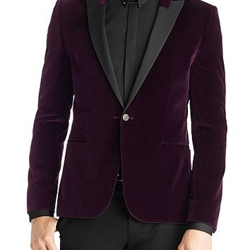 'Aino' | Extra Slim Fit, Velvet Sport Coat by HUGO