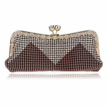 Afibi Women Handbags Rhinestone Evening Bags Crystal Party Clutches Bag