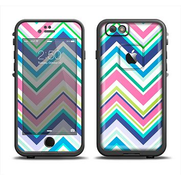 The Vibrant Colored Chevron Pattern V3 Apple iPhone 6 LifeProof Fre Case Skin Set