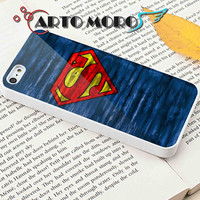 Design Superman Logo on Wood - iPhone 4/4S Case, iPhone 5/5S Case, iPhone 5C Case and Samsung Galaxy S3 i9300 Case, S4 i9500 Case.