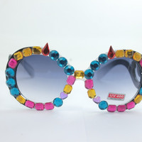 Women's Cute Lovely Summer Style Hot Fashion Fimo Flower Sunglasses = 4672226052