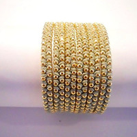 Olive green cotton wax cord and a gold chain - 6X wrap bracelet