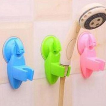 1 Pc Strong Sucker Shower Seat Stand Base Shower Head Silicone Bracket Shower Suction Cup Holder Bathroom Accessories