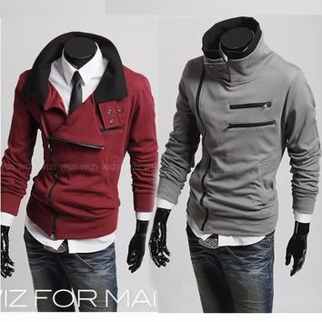 2011 New Style High Neck Side Zip Sweat