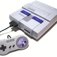 Official Original Super Nintendo Console System SNS-001 Bundled With Game SNES
